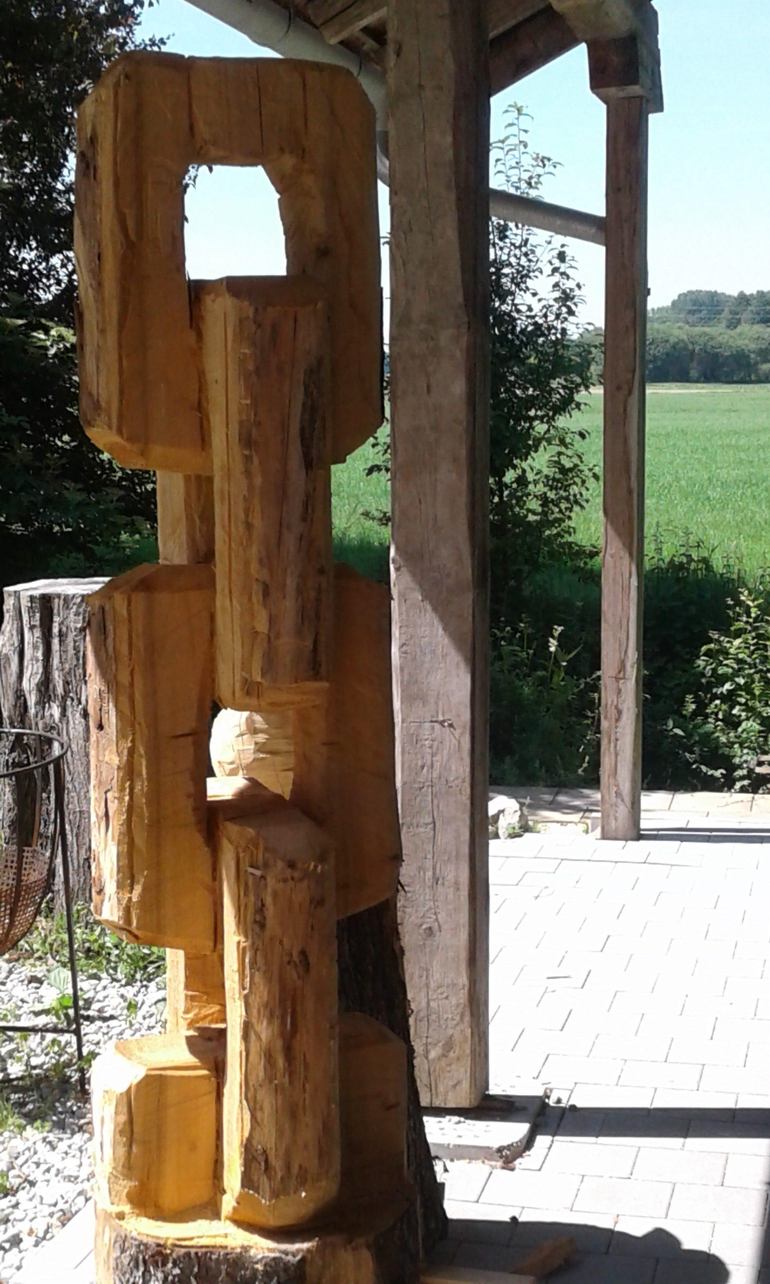Holzskulptur Kette